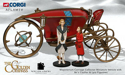 Golden Compass Magisterium Carriage Miniature Vehicle Mrs Coulter Lyra Figurines