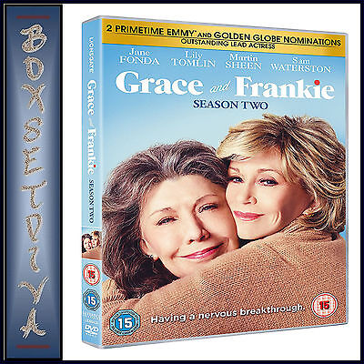 Grace And Frankie - Complete Season 2 - Second Season *** Brand New Dvd ***