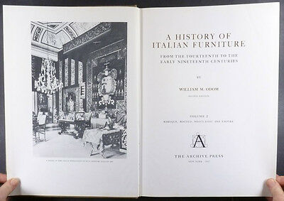 Antique Italian Furniture 2 Volume Set by Odom - Medieval and Renaissance & more