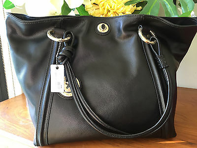 MIMCO Supernatural Tote Large Black Pebbled Leather bag handbag AUTHENTIC new