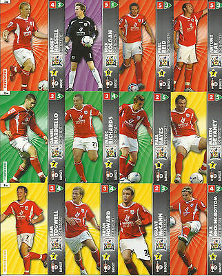 Panini Championship 2007 Football cards Complete Team Set x 12 FREE UK P&P
