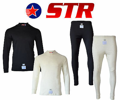 STR Club Rayon/Nomex Set FIA Approved Race Underwear Fire Retardant TOP & BOTTOM