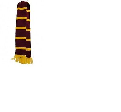 Harry Potter Type Scarf Maroon And Yellow Color Adult Size.