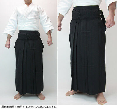 KUSAKURA Japanese Aikidogi Aikido Hakama Pants skirt Black Made in Japan New