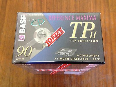 BASF Reference Maxima 90 Chrome Dioxid CrO2 TPII Cassette Audio-Kassette NEW II