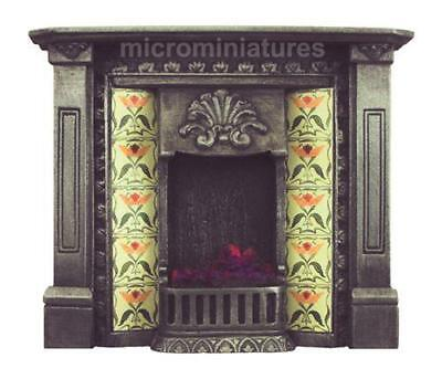 Dolls House Cast Iron Finish Corbell Fireplace 1/12 Scale (02114)