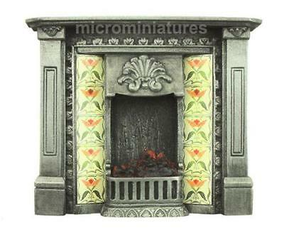 Dolls House Cast Iron Polished Finish Corbell Fireplace 1/12 Scale (02115)