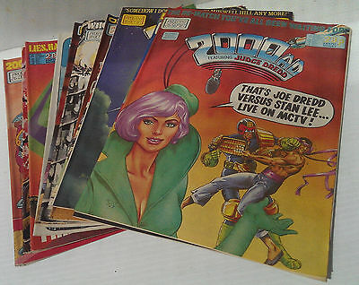 2000 A.D. Featuring JUDGE DREDD Progs 541-554 Unbroken Run of 14 Comic Issues VG