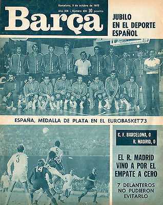 Barcelona v Arsenal 16/10/1973 Friendly