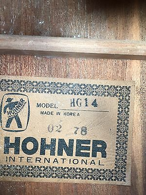HOHNER INTERNATIONAL (1978 ) CLASSICAL GUITAR with Case