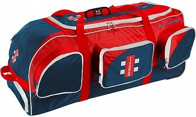 2017 Gray Nicolls Players Blue Red White Wheelie Cricket Bag