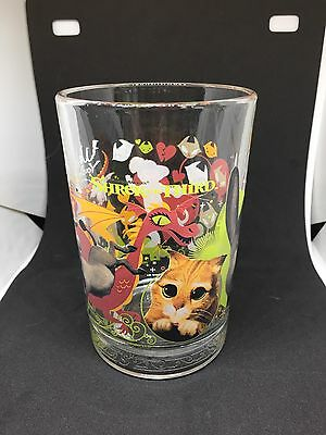 Mcdonald's Collectible Shrek The Third Glass Donkey And Puss In Boots
