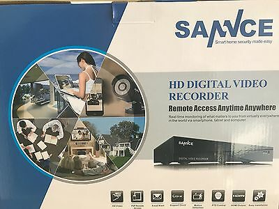 CCTV SANNCE 8CH 720P HD Video Security with 1080N HD 8-in-1 DVR - DG81CP