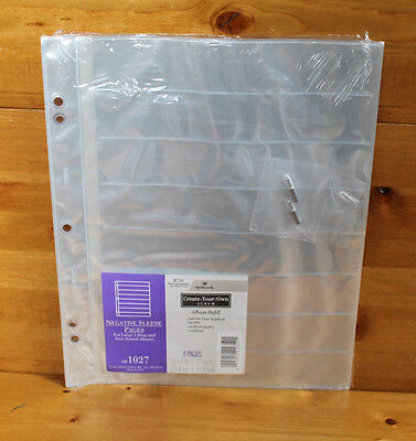 NEW Hallmark AR1027 Negative Sleeve Pages - 8 Pages with Extension Posts