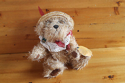 The Brass Button Collection ROSIE Grandma Bear - 10in Jointed Plush, Hat Glasses