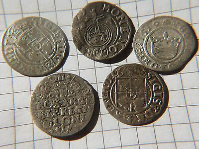 Mixed Silver Groschen lot Sigismund I. and III. of Poland