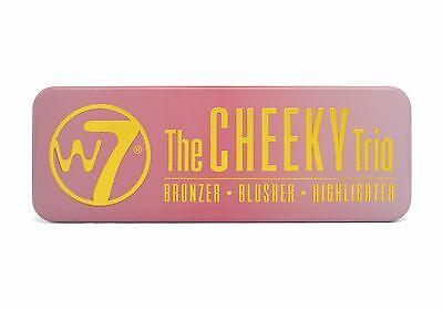 W7 The Cheeky Trio - Bronzer, Blusher, Highlighter Powder Palette