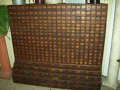 Antique 411 Drawers Country Store Hardware Bolt Cabinet Cupboard