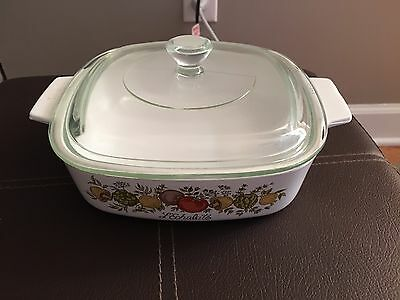 Corelle Spice of Life 1 Quart Casserole Dish with Glass Lid  Corning Ware