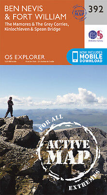 Ben Nevis and Fort William Active Explorer Map - 392 OS 2015