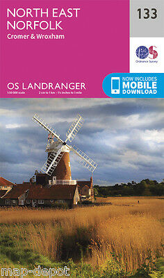 NORTH EAST NORFOLK LANDRANGER MAP 133 - Ordnance Survey  OS  NEW 2016 + DOWNLOAD