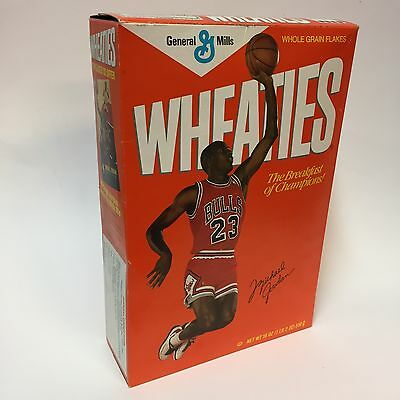 1988 Wheaties Cereal Box Michael Jordan Part 2 College Chicago Bull Sealed 18 Oz