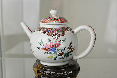 Beautiful Chinese Famille Rose Teapot 1700S