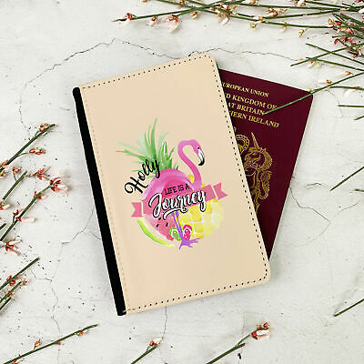 Personalised Summer Flamingo Passport Travel Wallet Case Cover gift