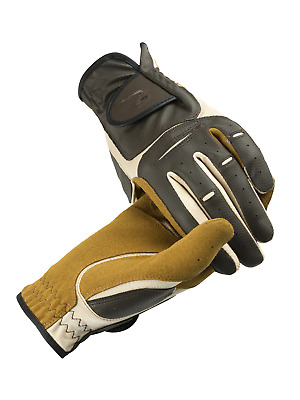 Horze Elisabeth Synthetic Leather Gloves - Chocolate Brown