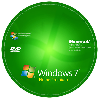 Windows 7 Home premium 32-Bit Installation & Format HDD DVD Disc and Product key