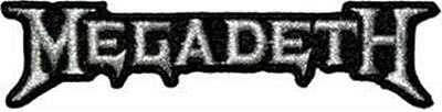 Official Licensed - Megadeth - Silver Logo Embroidered Woven Patch Metal
