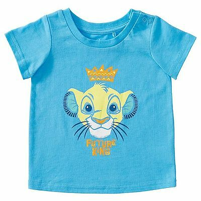 Disney Baby Simba Short Sleeve T-Shirt Size 0 Blue 100% Cotton New with Tags