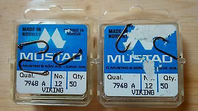 Mustad 7948A, Wet Nymph, Size 12, Package of 50, Fly Tying Hooks