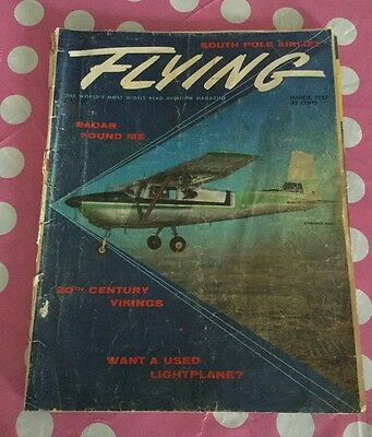 Vintage March 1957 FLYING Magazine FREE Shipping!