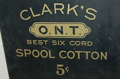 Vintage Clark's Cotton Spool Metal Store Display 5 Cent Sewing Thread Dispenser