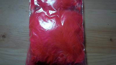 Strung Marabou (Dyed Fluorescent Orange) 15 gram bag