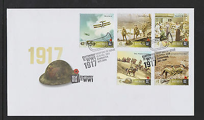 Australia 2017 : Centenary of WW1 1917 First Day Cover, Mint Condition