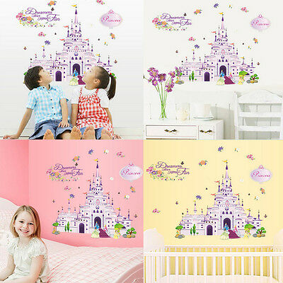 Wall Stickers Princess Dream Castle Vinyl Decal Room Nursery Mural Newest