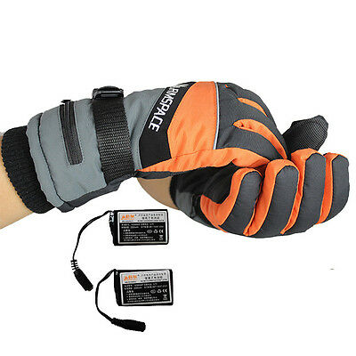 Electric Heated Warmer Gloves Work Rechargeable Battery Hands Finger Outdoor Ski