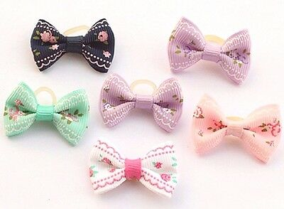 Dog Cat Grooming Mix Hair Bows Headdress Cute Handmade Hairy Pet Accessories UK