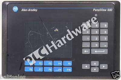 Allen Bradley 2711-B6C8 /B PanelView 600 Color Keypad/Touch DH+/RS-232 AC, Read!