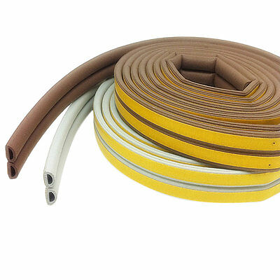 12m Foam Draught Excluder D Type Seal Strip Insulation for Door Window New AUOJ