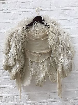 Stunning 1930's rare ostrich feather vintage cape / shawl - wedding, burlesque