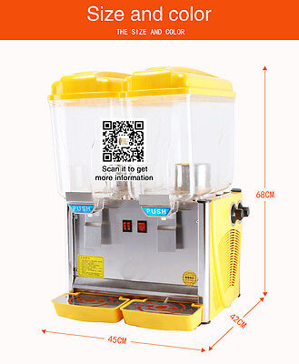 110V/220V DHL shipping commercial 17L*2 tanks hot cold drink dispenser machine