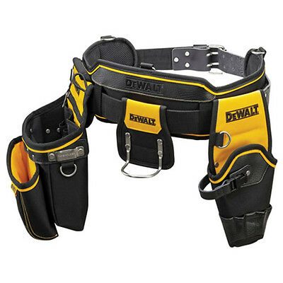 DEWALT DWST1-75552 / Heavy Duty Tool Leather Belt / Pouch and Hammer Loop / Brea