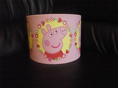 "PEPPA PIG pink  10"" DRUM CEILING LAMPSHADE LIGHTSHADE"