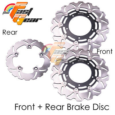 Front Rear SS Brake Disc Rotor Set For Suzuki Faired Bandit GSF1200S ABS year 06