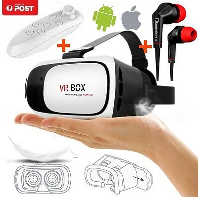 3in1 VR BOX Google Cardboard Glasses Bluetooth Control for iPhone 7 Plus 6S 6 SE