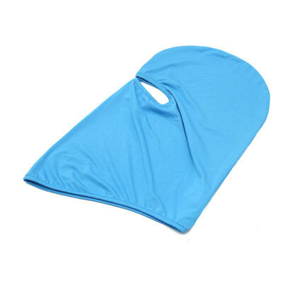 Sky Blue Polyester Motorcycle Cycling Windproof Face Mask Cap Neck Protector