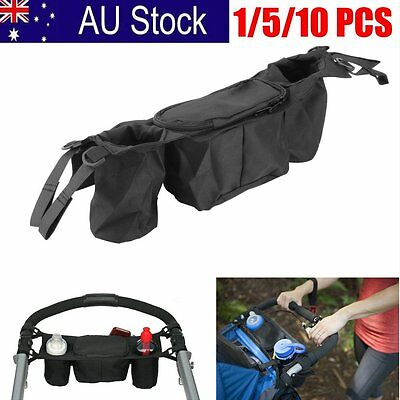 Cute Baby Stroller safe console tray pram hanging bag/cup holder/accessory AU1